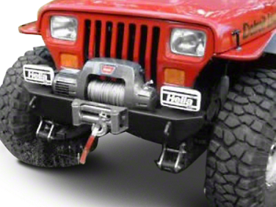 M.O.R.E. Rock Proof Stubby Front Bumper - Black (87-95 Jeep Wrangler YJ)