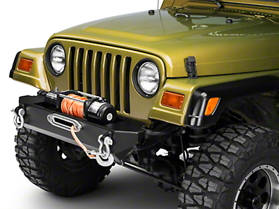 M.O.R.E. Rock Proof Stubby Front Bumper - Black (97-06 Jeep Wrangler TJ)