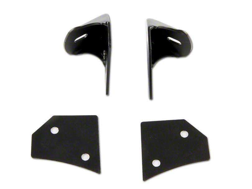 M.O.R.E. Windshield Light Mounting Bracket - Black (07-18 Jeep Wrangler JK)