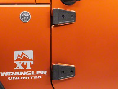 Rugged Ridge Black Door Hinge Cover Kit (07-18 Jeep Wrangler JK 4 Door)