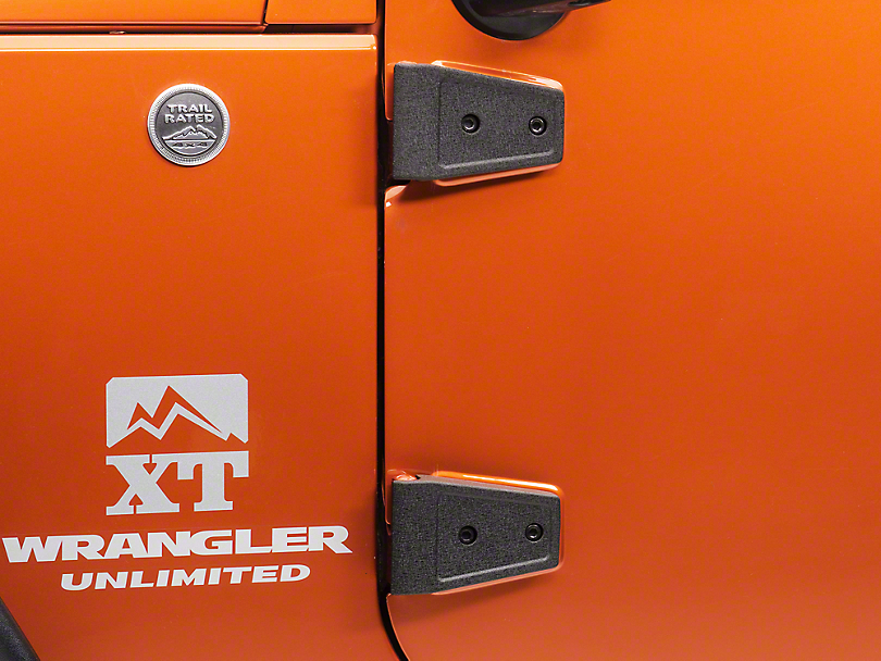 Rugged Ridge Black Door Hinge Cover Kit (07-18 Wrangler JK 4 Door)  sc 1 st  ExtremeTerrain & Rugged Ridge Wrangler Black Door Hinge Cover Kit 11202.05 (07-17 ... pezcame.com
