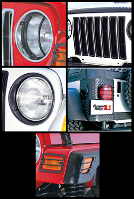 Rugged Ridge Black 17 Piece Euro Guard Light Kit (97-06 Wrangler TJ)