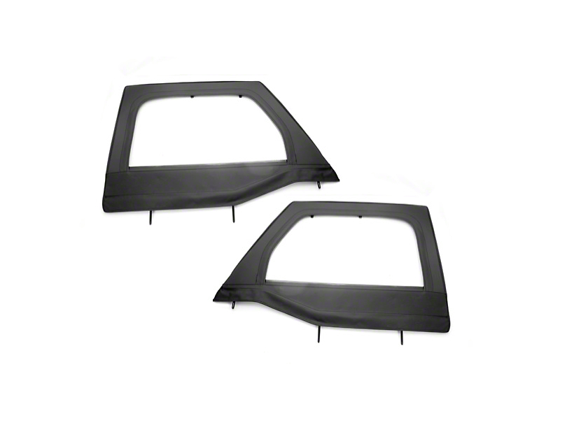 Rugged Ridge Black Front Upper Soft Doors for Rugged Ridge Half Doors - Pair (07-18 Jeep Wrangler JK)