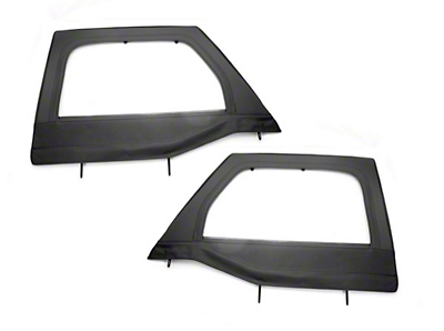 Rugged Ridge Black Front Upper Soft Doors for Rugged Ridge Half Doors - Pair (07-18 Wrangler JK)