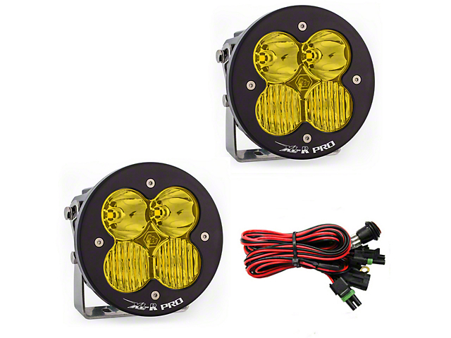 Baja Designs XL-R Amber Pro LED Lights - Driving/Combo Beam - Pair