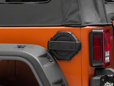 Rugged Ridge Elite Locking Fuel Door & Cap Kit - Black (07-18 Wrangler JK)