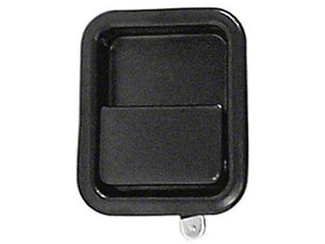 Black Full Steel Door Paddle Handle (87-95 Jeep Wrangler YJ RH, 97-06 Jeep Wrangler TJ LH)