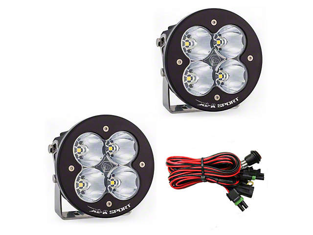 Baja Designs XL-R Sport LED Lights - High Speed Spot Beam - Pair
