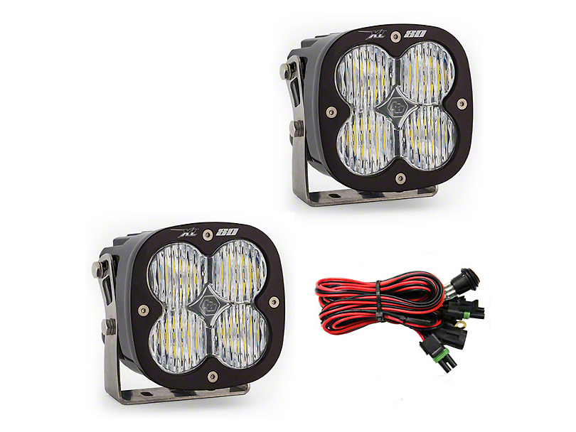 Baja Designs XL80 LED Lights - Wide Cornering Beam - Pair