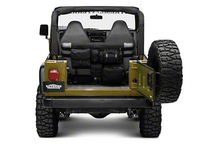 Smittybilt G.E.A.R. Rear Seat Cover - Black (87-06 Jeep Wrangler YJ & TJ)