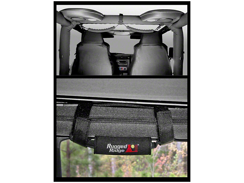 Rugged Ridge Neoprene Grab Handle Covers - Black (97-06 Jeep Wrangler TJ)