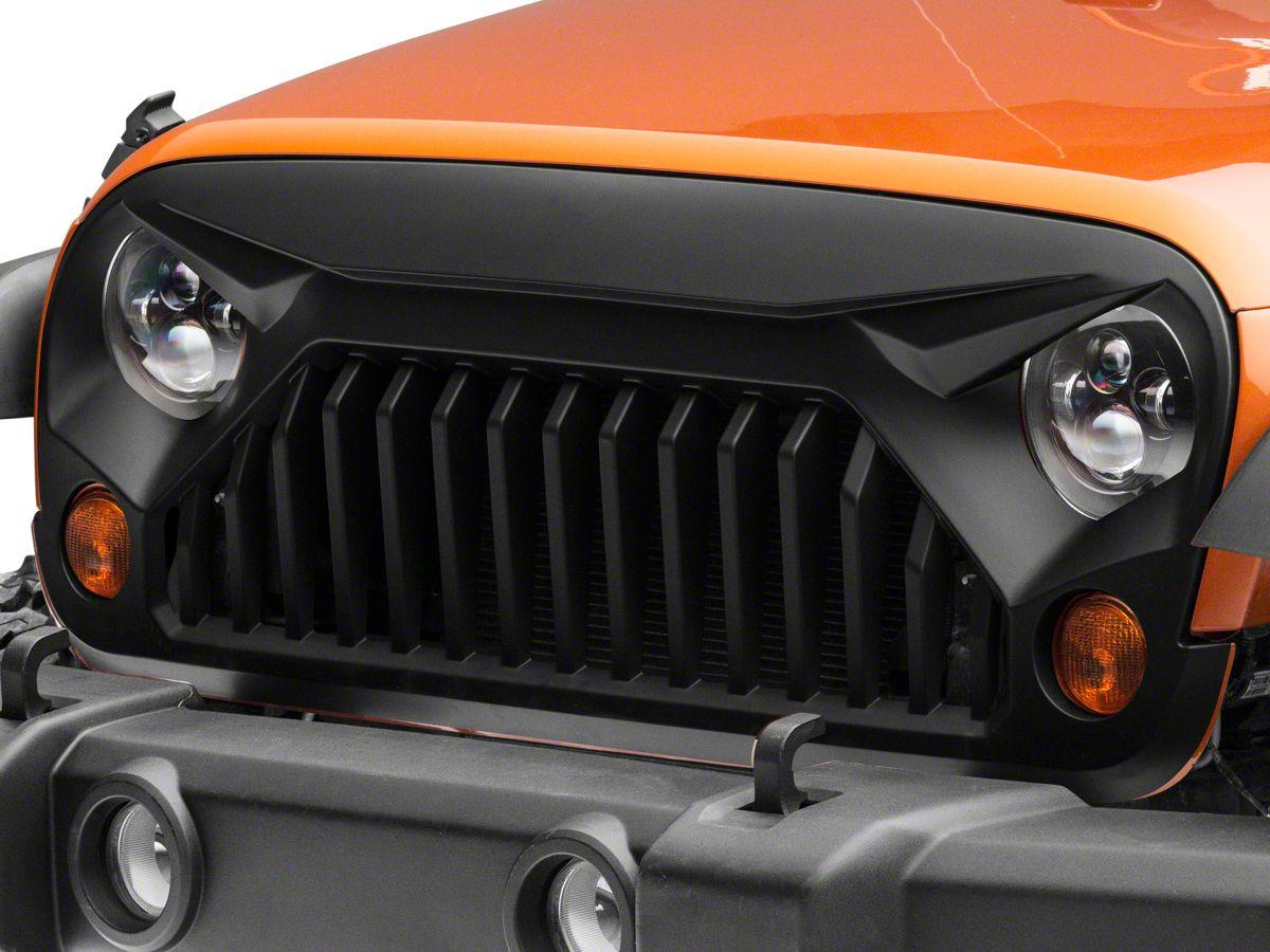 Jeep Wrangler Grill >> Redrock 4x4 Gladiator Grille Matte Black 07 18 Jeep Wrangler Jk