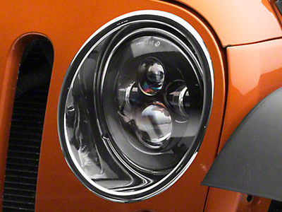 RedRock 4x4 Headlight Bezels - Chrome (07-18 Jeep Wrangler JK)