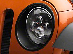 RedRock 4x4 Headlight Bezels - Matte Black (07-18 Jeep Wrangler JK, Excluding Sahara)