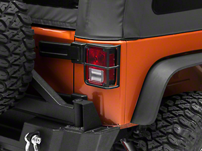 RedRock 4x4 OE Style Tail Light Guards - Black (07-18 Jeep Wrangler JK)