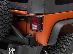 RedRock 4x4 OE Style Tail Light Guards; Black (07-18 Jeep Wrangler JK)