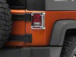 RedRock 4x4 Tail Light Guards - Chrome (07-18 Jeep Wrangler JK)