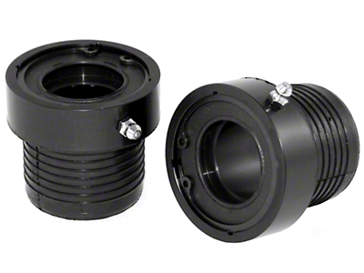 Alloy USA Black Grande Axle Tube Seals (87-18 Wrangler YJ, TJ & JK w/ 30-Spline Dana 30 or Dana 44 Front Axles)