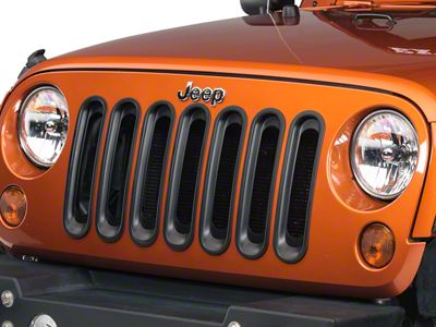 Add Rugged Ridge Black Grille Insert Set (07-17 Wrangler JK)