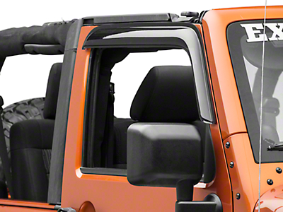 RedRock 4x4 Rain Guards - Smoked (07-18 Jeep Wrangler JK 4 Door)