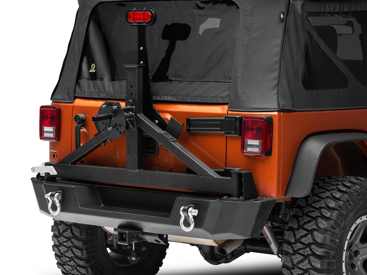 RedRock 4x4 Tire Carrier Mounted License Plate Bracket (07-18 Jeep Wrangler JK; 2018 Jeep Wrangler JL)