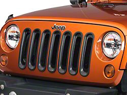 Rugged Ridge Grille Inserts - Black (07-18 Jeep Wrangler JK)