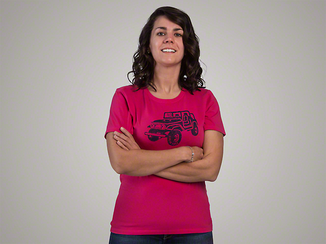 Life is Good Women's Offroad 4x4 Crusher T-Shirt - Pink
