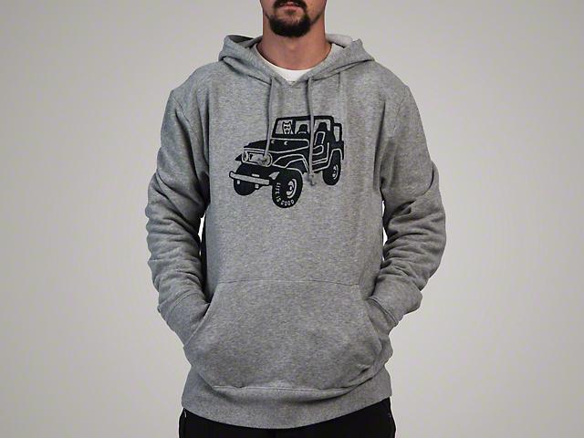 Life is Good Men's ATV Go-To Hoodie - Gray