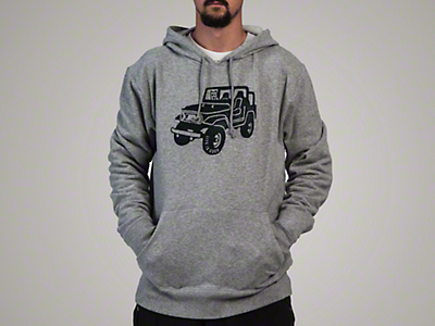 Life is Good Men's ATV Go-To Hoodie - Gray