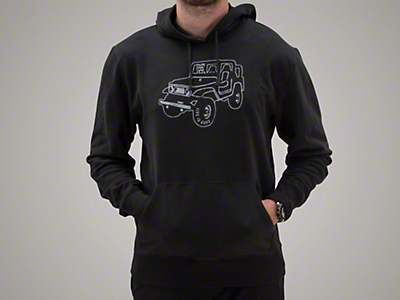 Life is Good Men's ATV Go-To Hoodie - Black