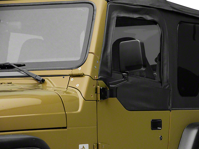 Smittybilt Black Half Door Side Mirrors (87-06 Jeep Wrangler YJ & TJ)