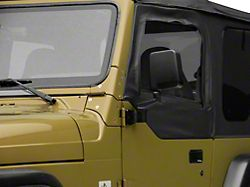 Smittybilt Half Door Side Mirrors; Black (87-06 Jeep Wrangler YJ & TJ)