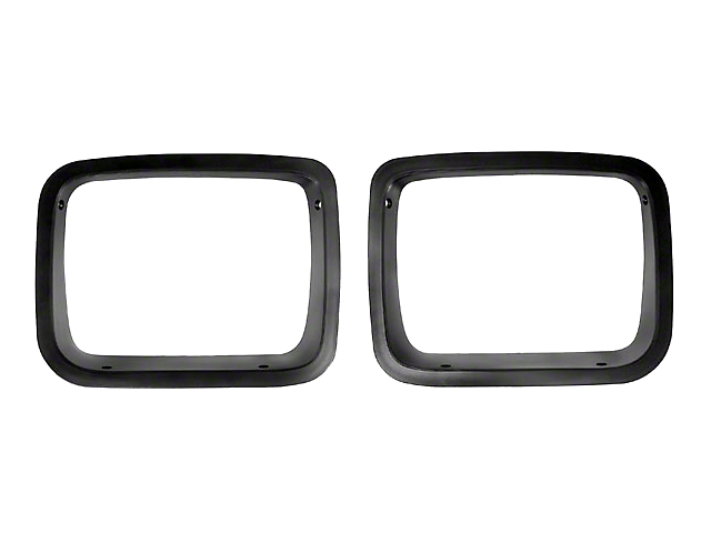 Rugged Ridge Head Light Bezels - Black (87-95 Jeep Wrangler YJ)