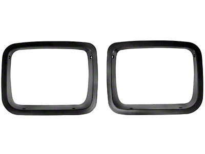 Rugged Ridge Black Head Light Bezel Pair (87-95 Jeep Wrangler YJ)