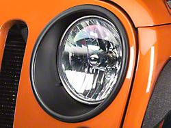 Rugged Ridge Headlight Bezels; Black (07-18 Jeep Wrangler JK)