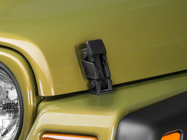 Black Hood Catch Bracket (97-06 Jeep Wrangler TJ)