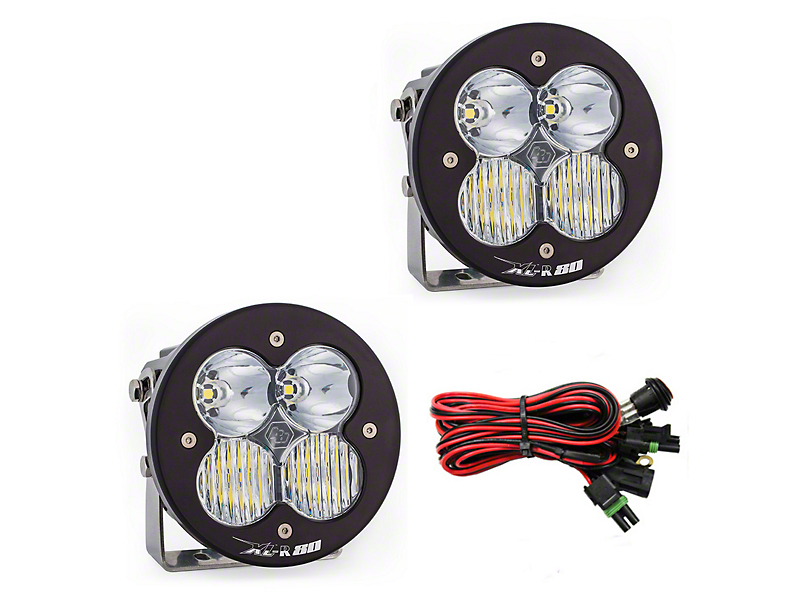 Baja Designs XL-R 80 LED Lights - Driving/Combo Beam - Pair
