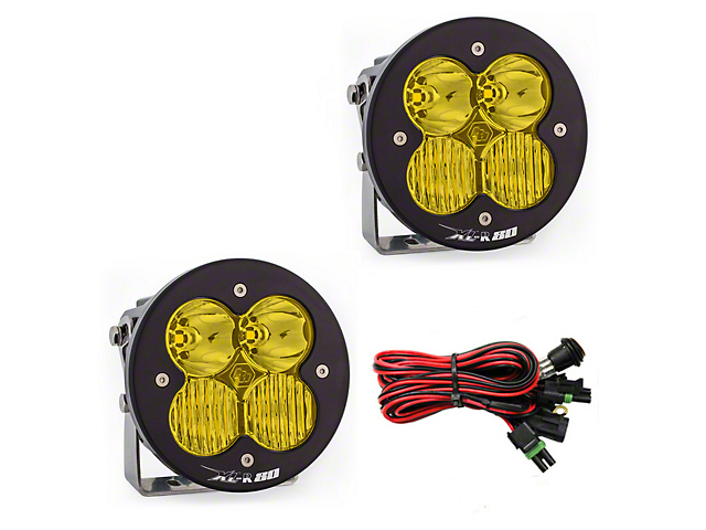 Baja Designs XL-R 80 Amber LED Lights - Driving/Combo Beam - Pair