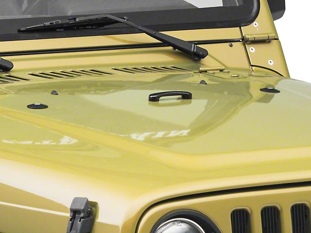 ATP Billet Footman Loop & Snub Delete Hood Washer Kit - Black (97-18 Jeep Wrangler TJ & JK)