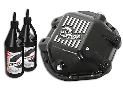 AFE Pro Series Rear Differential Cover w/ 75w-90 Gear Oil for Dana 44 (97-18 Wrangler TJ & JK)