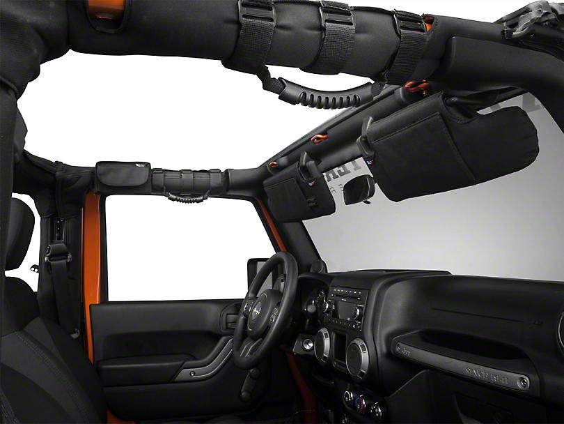 Rugged Ridge Black 4-Piece Interior Upgrade Kit (10-18 Jeep Wrangler JK)