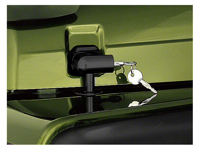 Rugged Ridge Black Locking Hood Latch Pair w/ Keys (97-06 Wrangler TJ)