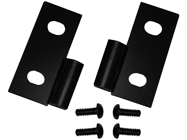 Rugged Ridge Lower Door Hinges; Black (87-06 Jeep Wrangler YJ & TJ)