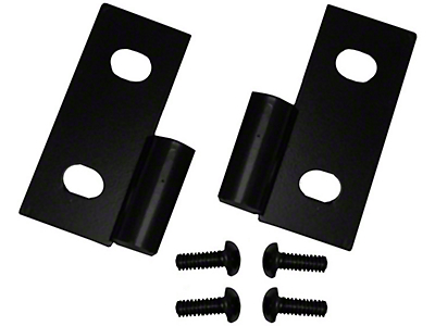Rugged Ridge Black Lower Door Hinge - Pair (87-06 Wrangler YJ & TJ)