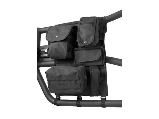 Rugged Ridge Tube Door Cargo Cover & Molle Storage Bags - Black (97-18 Jeep Wrangler TJ & JK)