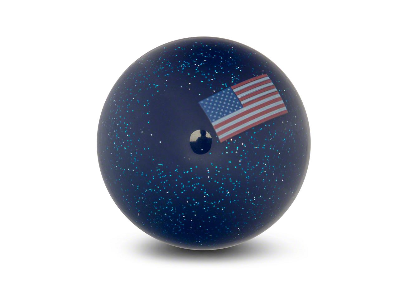 RedRock 4x4 American Flag Blue Shift Knob with Metal Flake (87-18 Wrangler YJ, TJ & JK)