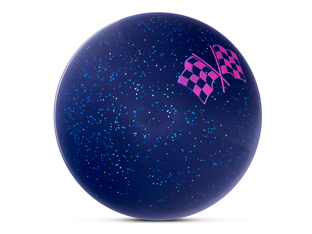 Alterum Pink 2 Checkered Race Flags Blue Shift Knob with Metal Flake (87-18 Jeep Wrangler YJ, TJ & JK)