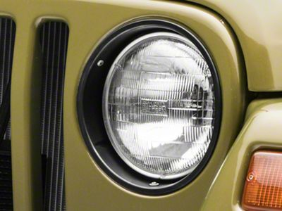 Rugged Ridge Plastic Headlight Bezels - Black (97-06 Jeep Wrangler TJ)