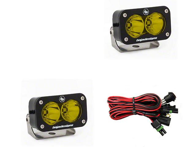 Baja Designs S2 Pro Amber LED Light - Spot Beam - Pair