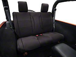 Rugged Ridge Neoprene Rear Seat Cover - Black (07-18 Jeep Wrangler JK 2 Door)
